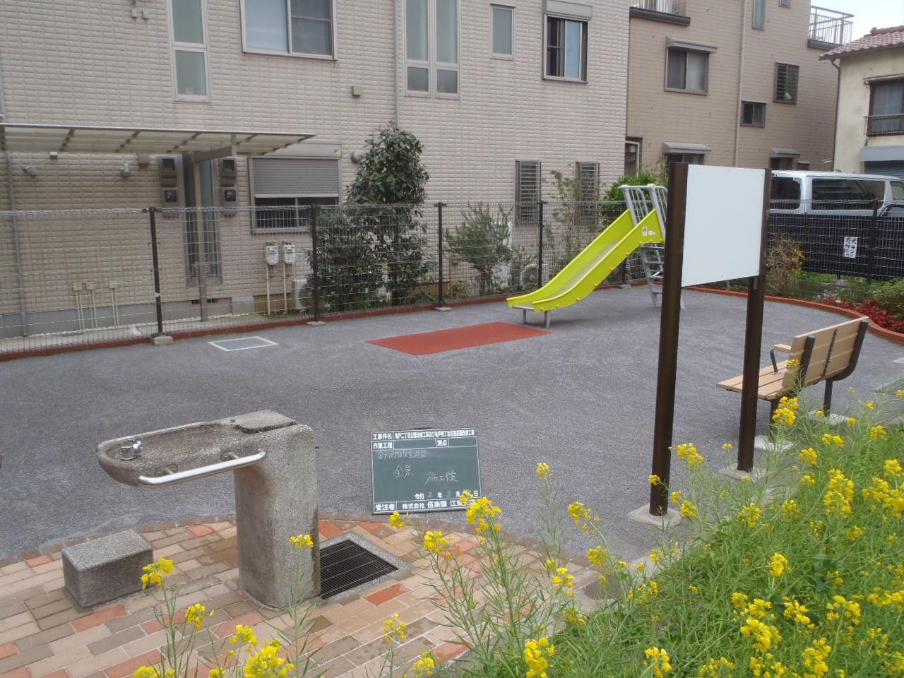 亀戸二丁目公園改修工事及び亀戸四丁目児童遊園改修工事竣工
