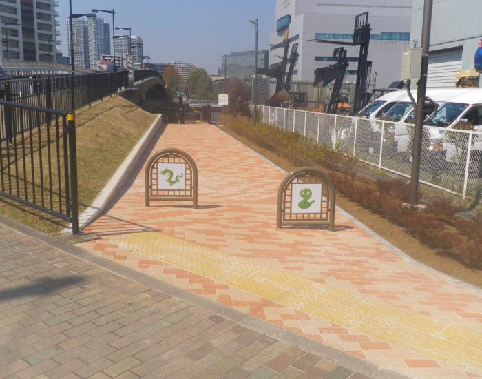辰巳運河運河潮風の散歩道歩道整備工事